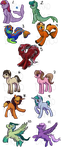 Pony Bunch adopts :OPEN: (paypal or points) by DarkoDraco