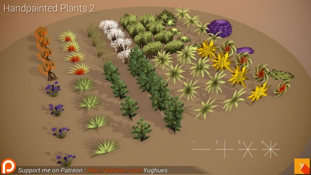 [Free] HandPainted Plants 2 by Nobiax