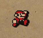 8 - Bit Mario - Super Mario Perler Bead Sprite by MaddogsCreations