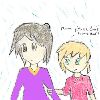 mom please don't leave dad by crazyofart