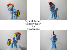 Rainbow Dash Crystal Armor Brushy Custom by Kwockodile