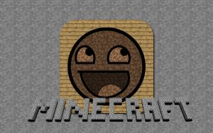 MineCraft Smiley Face WallPapr by AaronIveson