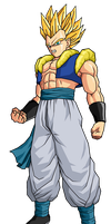 Adult Gotenks SSJ2 by SpongeBoss