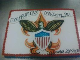 Eagle Scouts Cake by TheForest