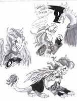joker dragon doodles by metamorro