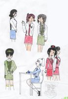 Avatar Modern AU-School Girls by Lil-StarLight