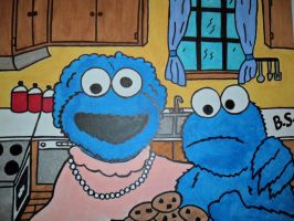 Cookie Monster and his mom by sampson1721