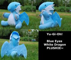 Blue Eyes W Dragon Plush by CrowMaiden
