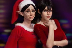 Hawke, Merrill - Dragon Age II by TophWei