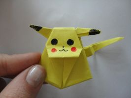 Pikachu Origami by societyisfucked