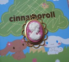 Pink Polymer Clay Cameo by FatallyFeminine