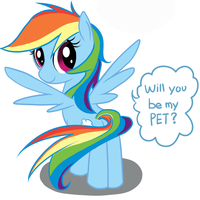 Rainbow Dash Asking question by Doggie999