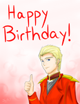 Commission: Char (CCA) says Happy Birthday by ComIsybell