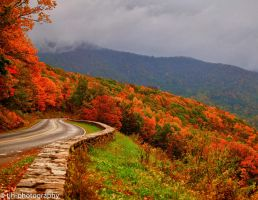 Fall in the Blue ridge mountains by Tjh1023