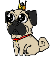 Crowned Pug by LaQube