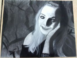 my self portrait drawing. by deanna22310