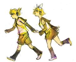 Vocaloid - Rin and Len by lihsa