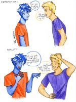 Percy and Jason meeting by red--ro-se