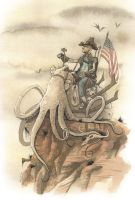 TRAILING THE DESERT PLAINS ON EIGHT ARMS 2012 by GrisGrimly