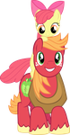 Apple Bloom on Big Mac's Shoulders Vector by mandydax