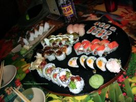 Canadian Sushi Platter. by GermanCityGirl