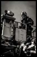 Firemen above Roof by keithajb