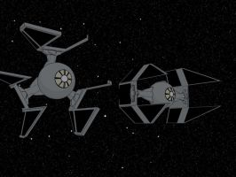 TIE Intercepter and Defender by Sirix2011