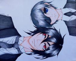 Ciel and Sebastian by margeaux202