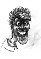 caricature pencil sketch by T3hSpoon