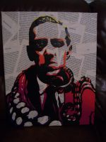 H.P. Lovecraft Stencil by Zombie-Pacman