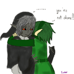 Dark Link and Saria by TheNextVocaloid