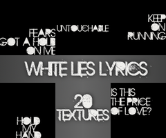 Text Textures - White Lies by HeroesWho