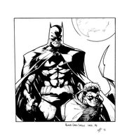 Capullo Batman and Robin inks by JosephLSilver