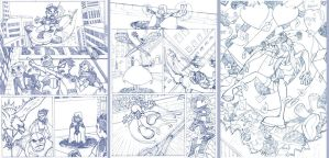 - Teen Titans - samples pages by sergio-quijada