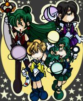 Outer Senshi Planet Attack by bchan
