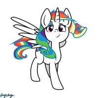 Princess Rainbow Rarity (Not completted) by GoingLucky
