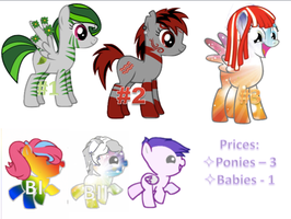 ~1-2 Point Pony Adoptables[CLOSED]~ by StarCatcherZ