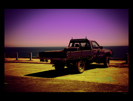 Ute parked at back beach. by thespook
