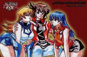 Judai, Asuka and Rei by jadenkaiba