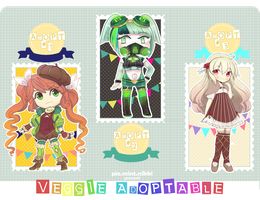 [AU | OPEN 3/3 ] Veggie Collab Adoptables by niekaori