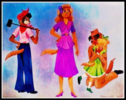 1940's Dog Family by FlapperFoxy
