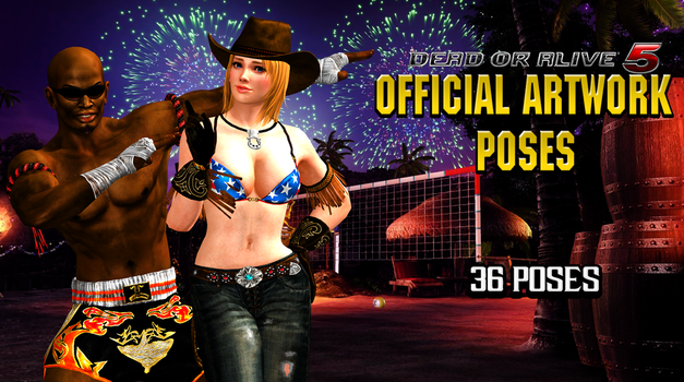 DOA5 Official Artwork Poses by IKeelYou457