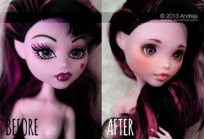 Custom Monster High Draculaura by AndrejA