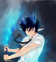 Okumura Rin: Blue Flames by Humivo