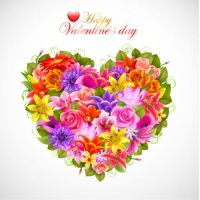 Heart-of-beautiful-flowers-Vector-Background by vectorbackgrounds