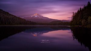 Twilight at Trillium Lake by brandtcampbell