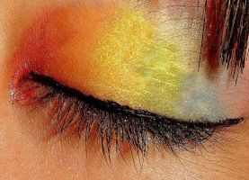 Rainbow make up by niqitaMonster