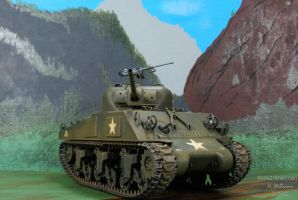 M4A2 Sherman front by 12jack12