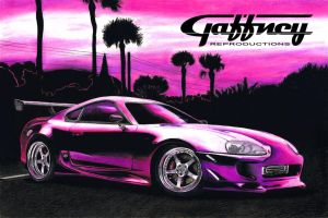 Colored Pencil Pink Supra by theGaffney