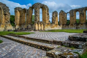 Cathedral floor -  Byland Abbey by Princess-Amy